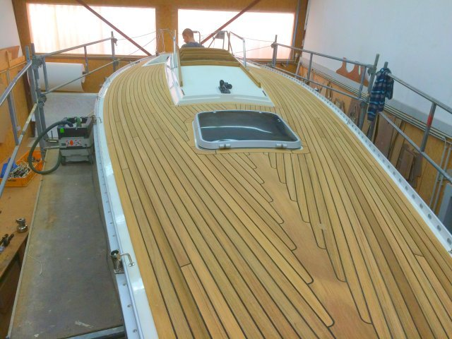 synthetic teak deck